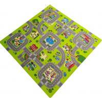 Детский ковер с дорогой - Купить детский игровой коврик город с дорогами для машинок